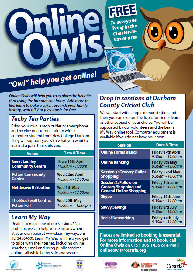 Online Owls events
